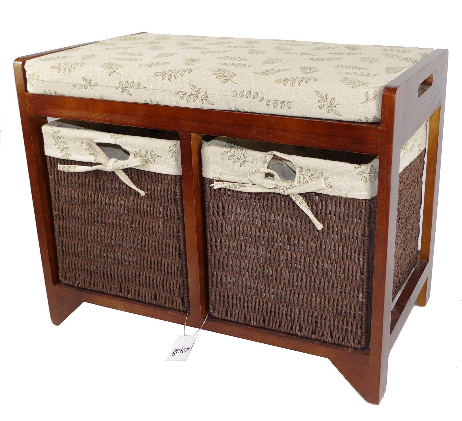 Cambourne Wooden Storage Bench 58 x 34 x 45cm