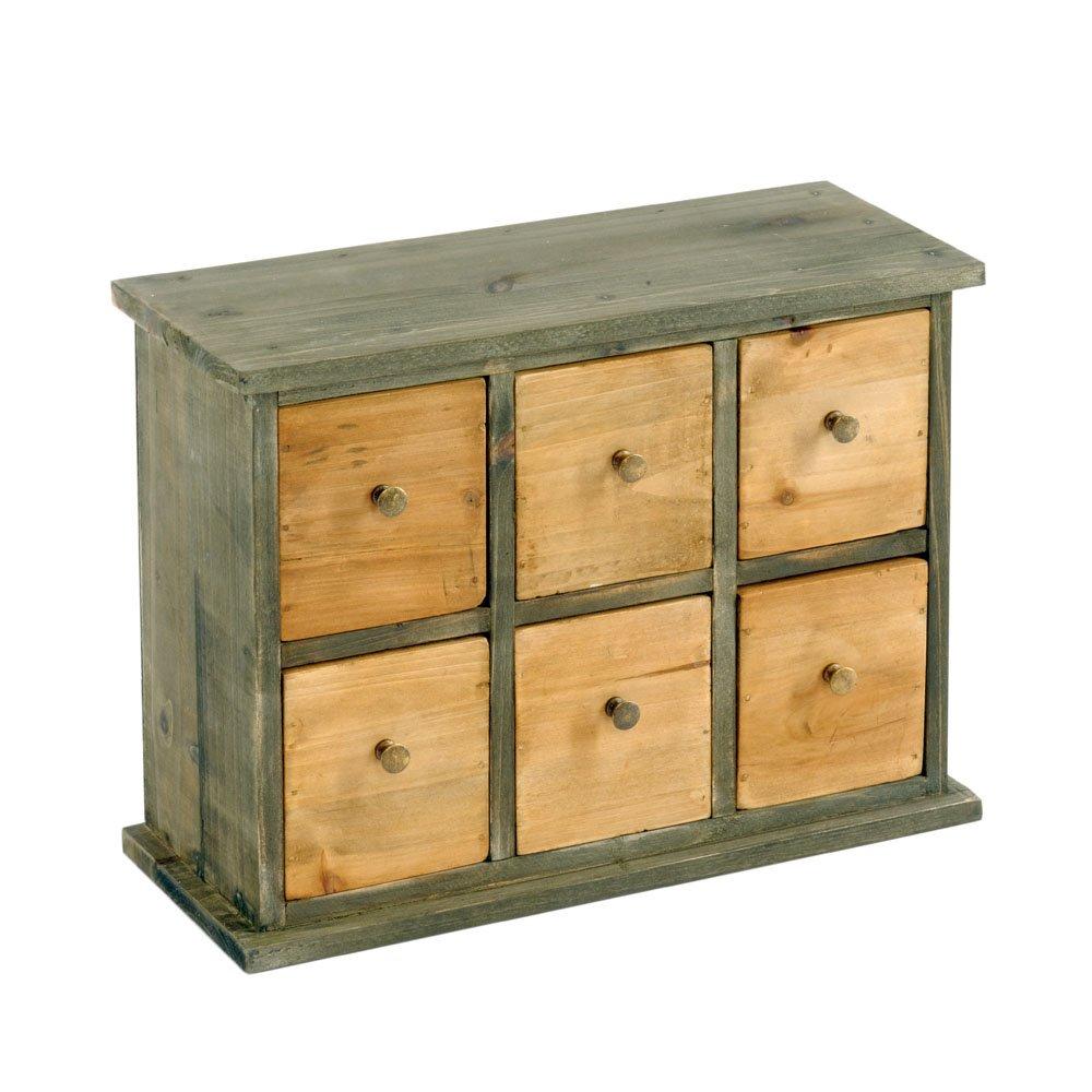 Six Drawer Storage Cabinet 32 x 13 x 24cm