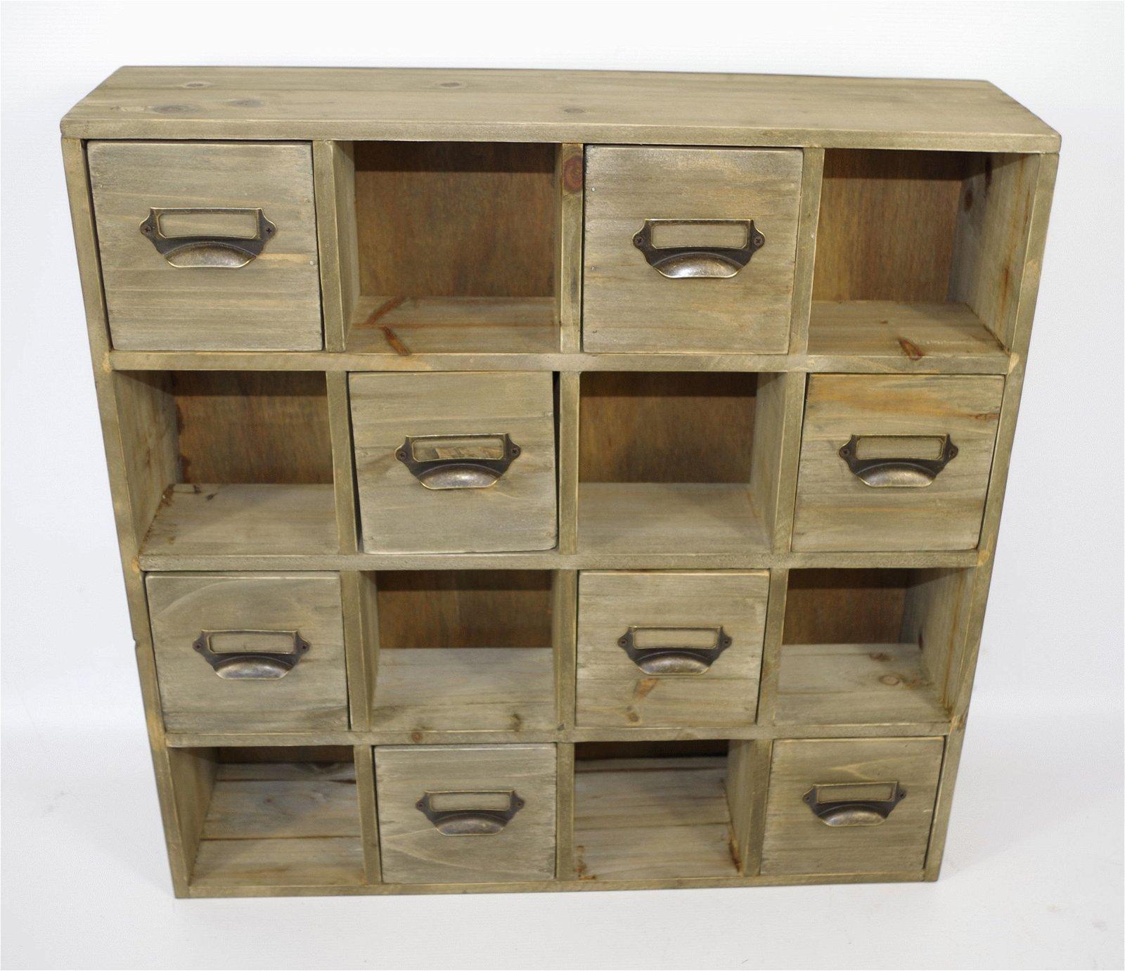 Multidrawer Storage Unit Square Handle 51 x 13 x 51cm