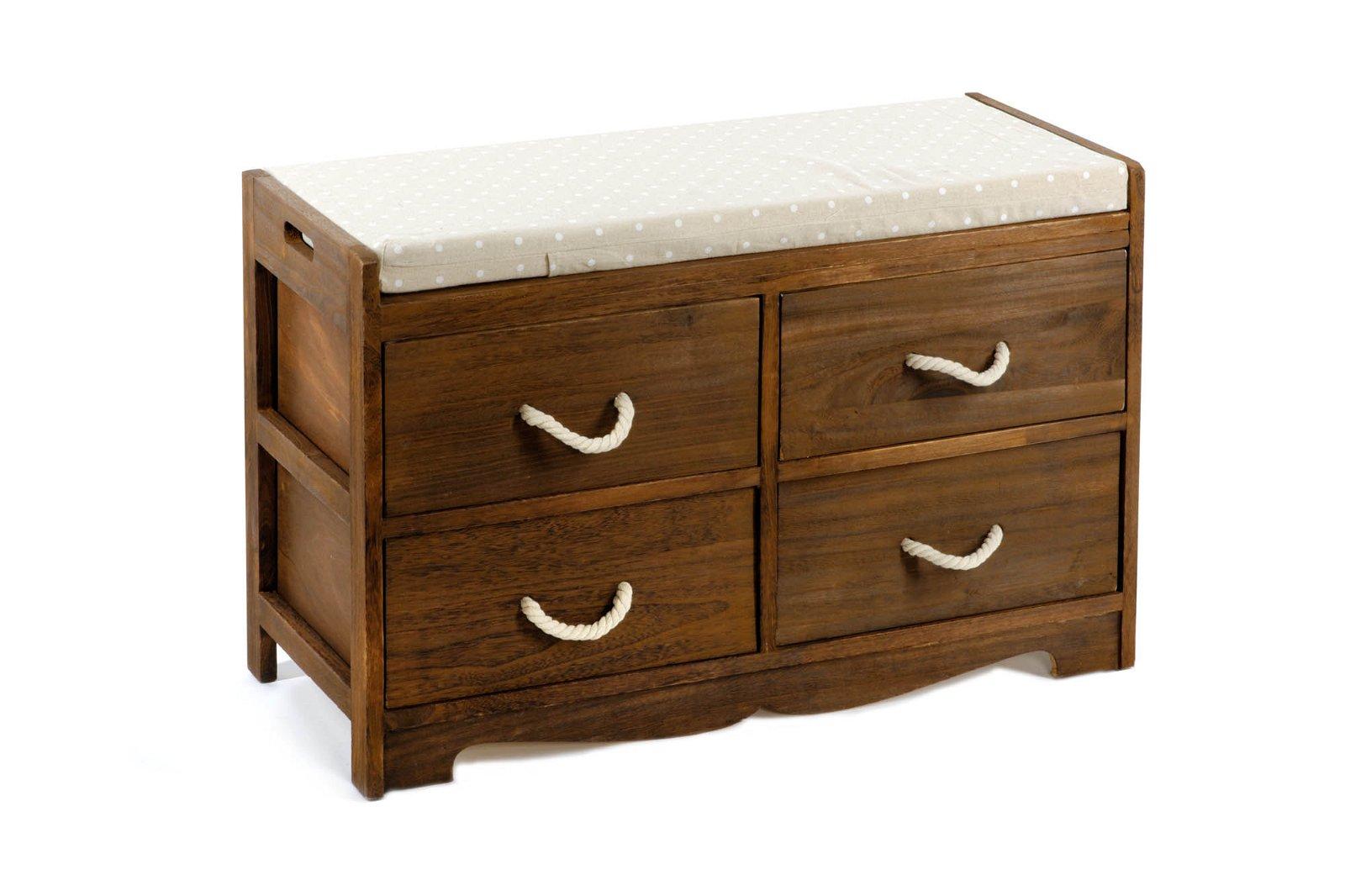 Revesby 4 Drawer Storage Bench 76 x 33 x 51 cm