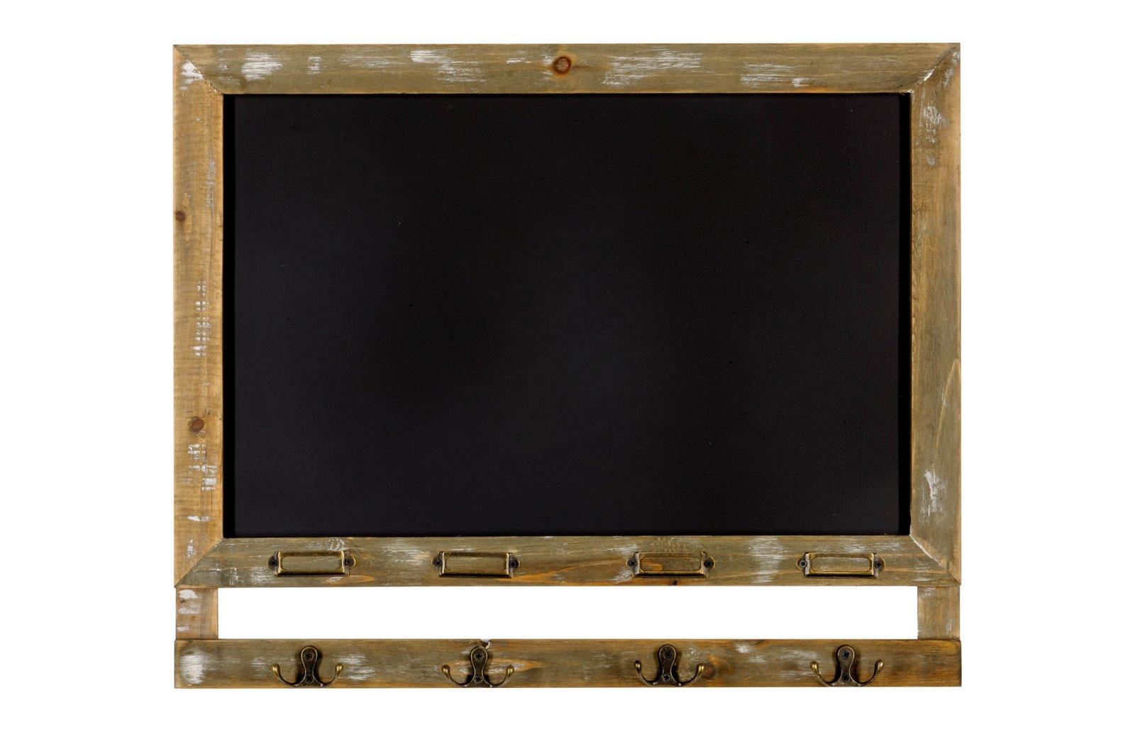 Blackboard with 4 Hooks 55 x 46cm