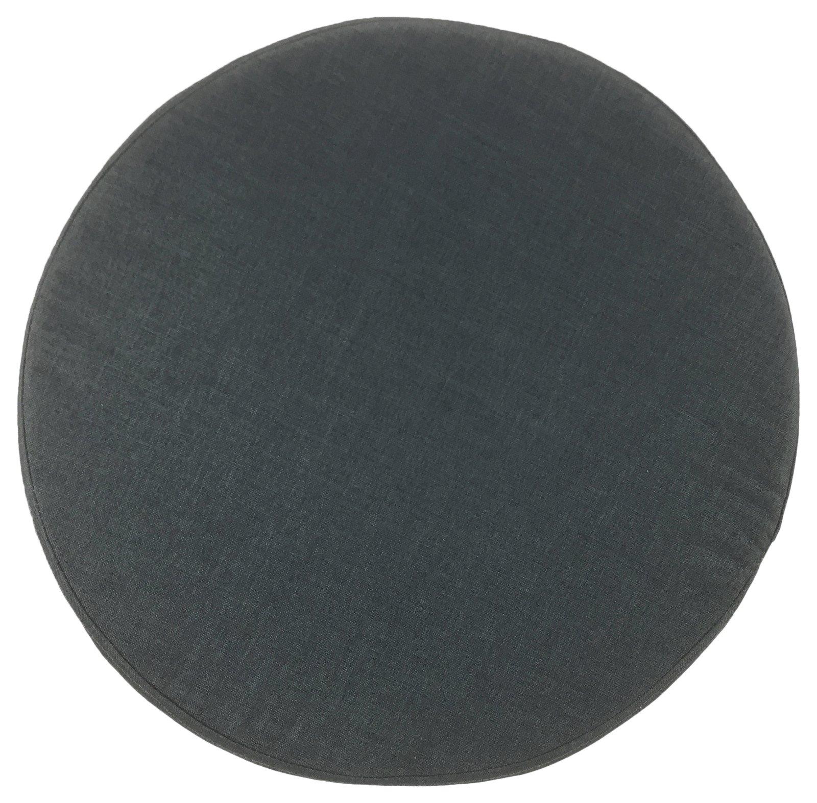 Grey Fabric Wooden Stool 48cm