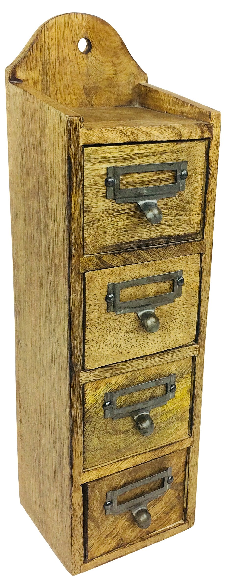 Solid Wood Cabinet With 4 Drawers 44cm