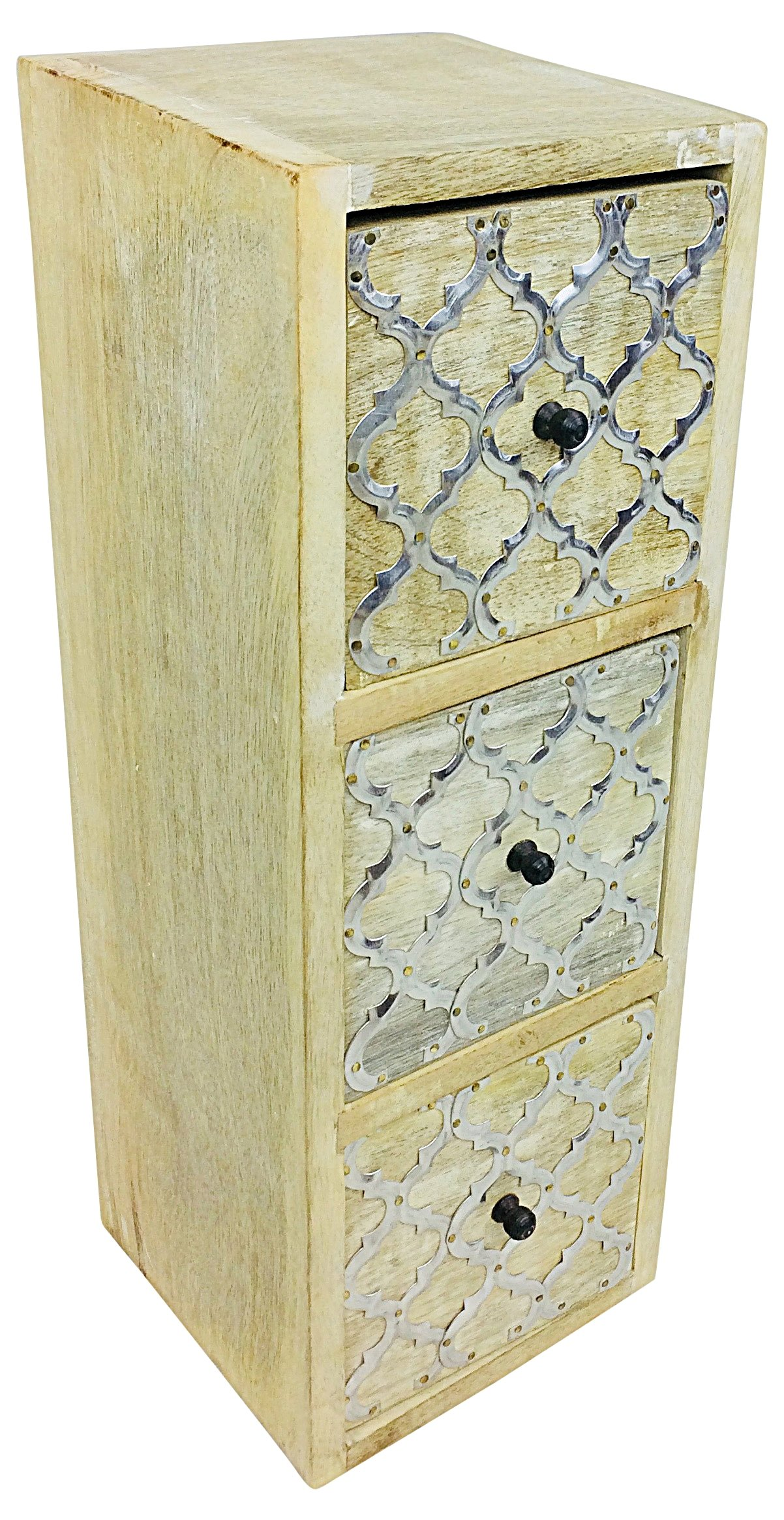 Solid Wood Cabinet With 3 Drawers 36cm