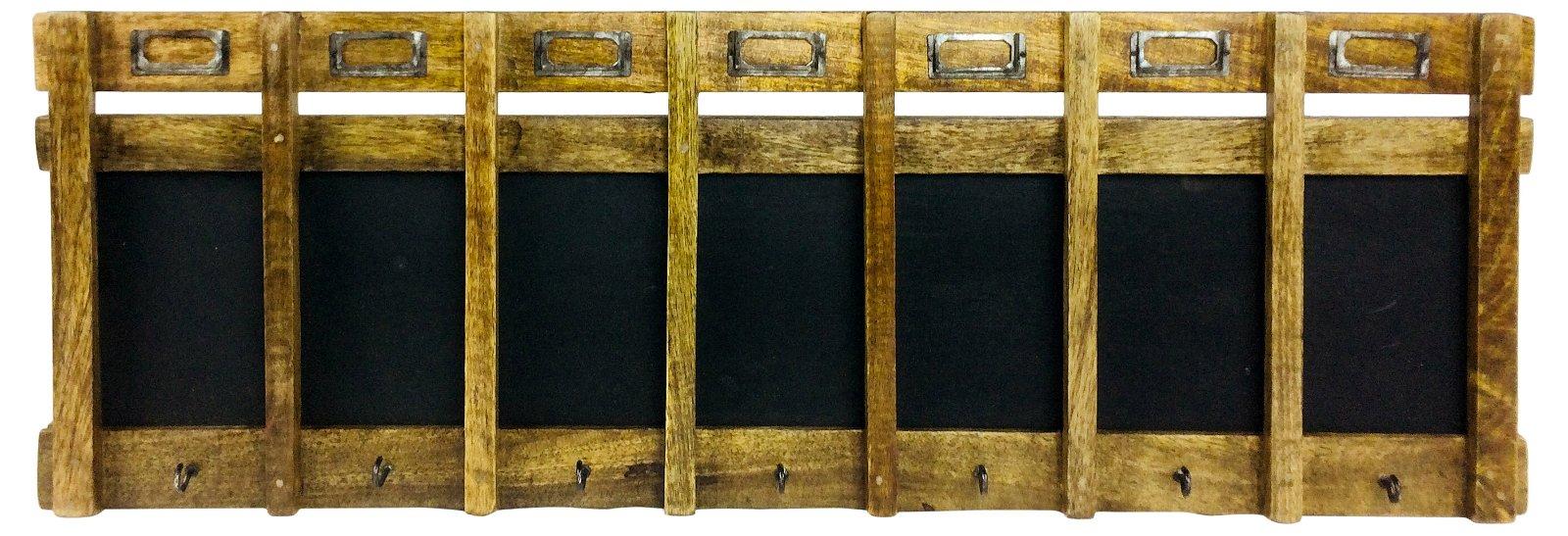 Weekly Blackboard with Seven Hooks