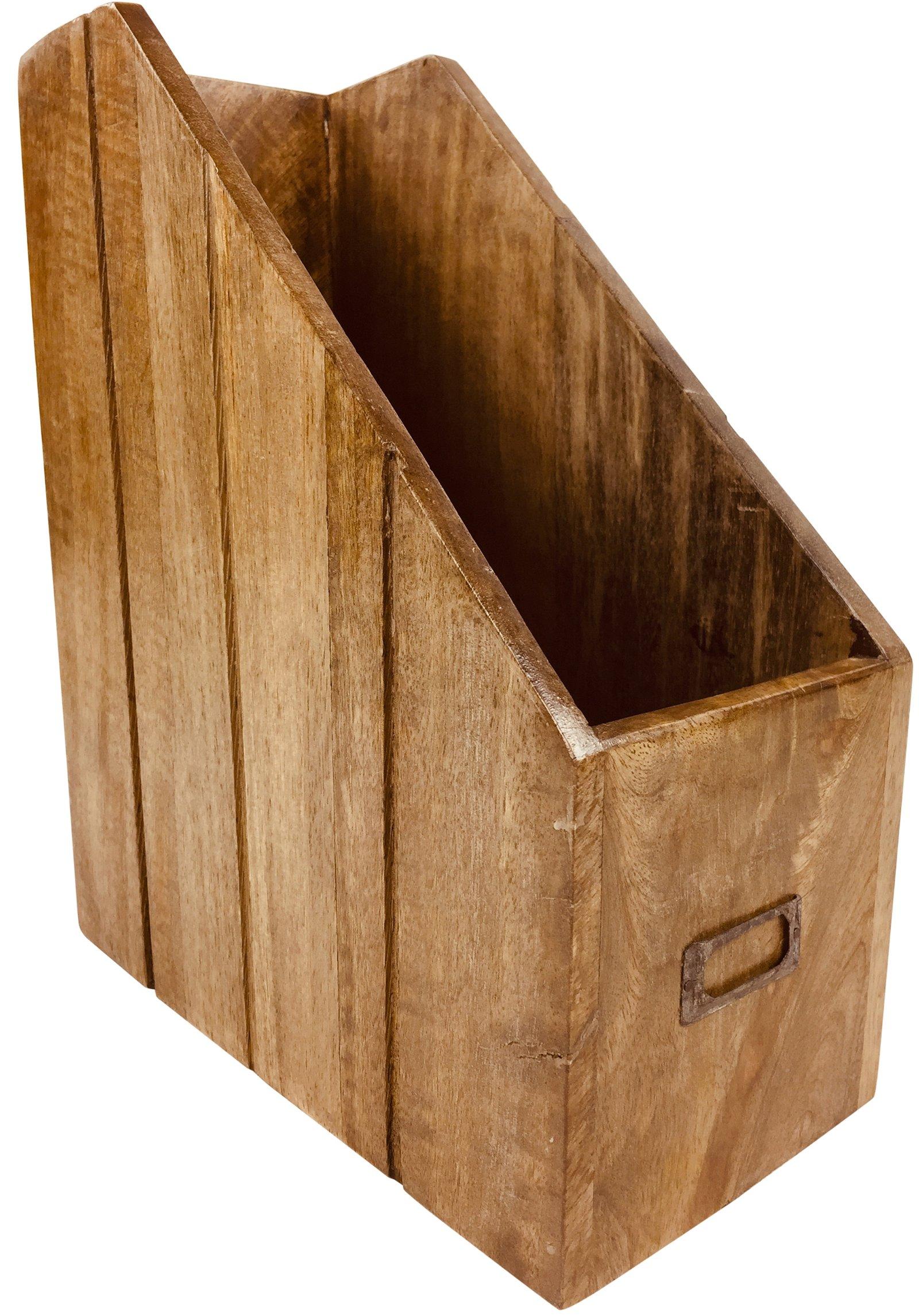 Solid Wood Magazine Organiser